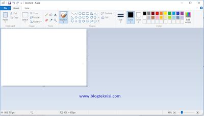 Gambar tampilan program Paint pada OS Windows