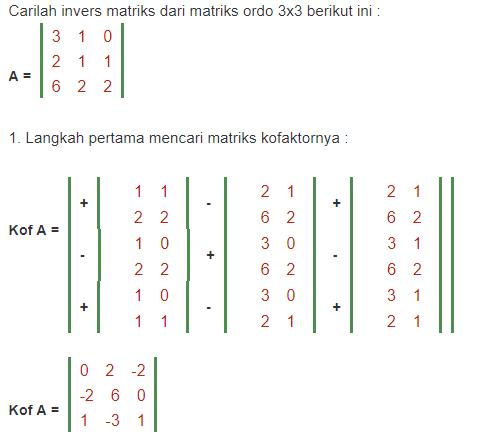 matriks ordo 3x3