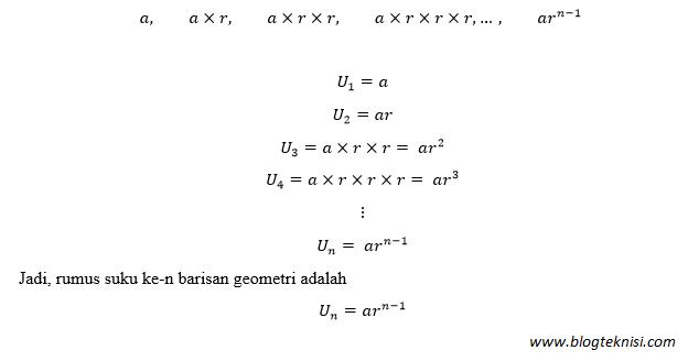 Cara Mudah Mencari Rasio Deret Geometri Blog Teknisi